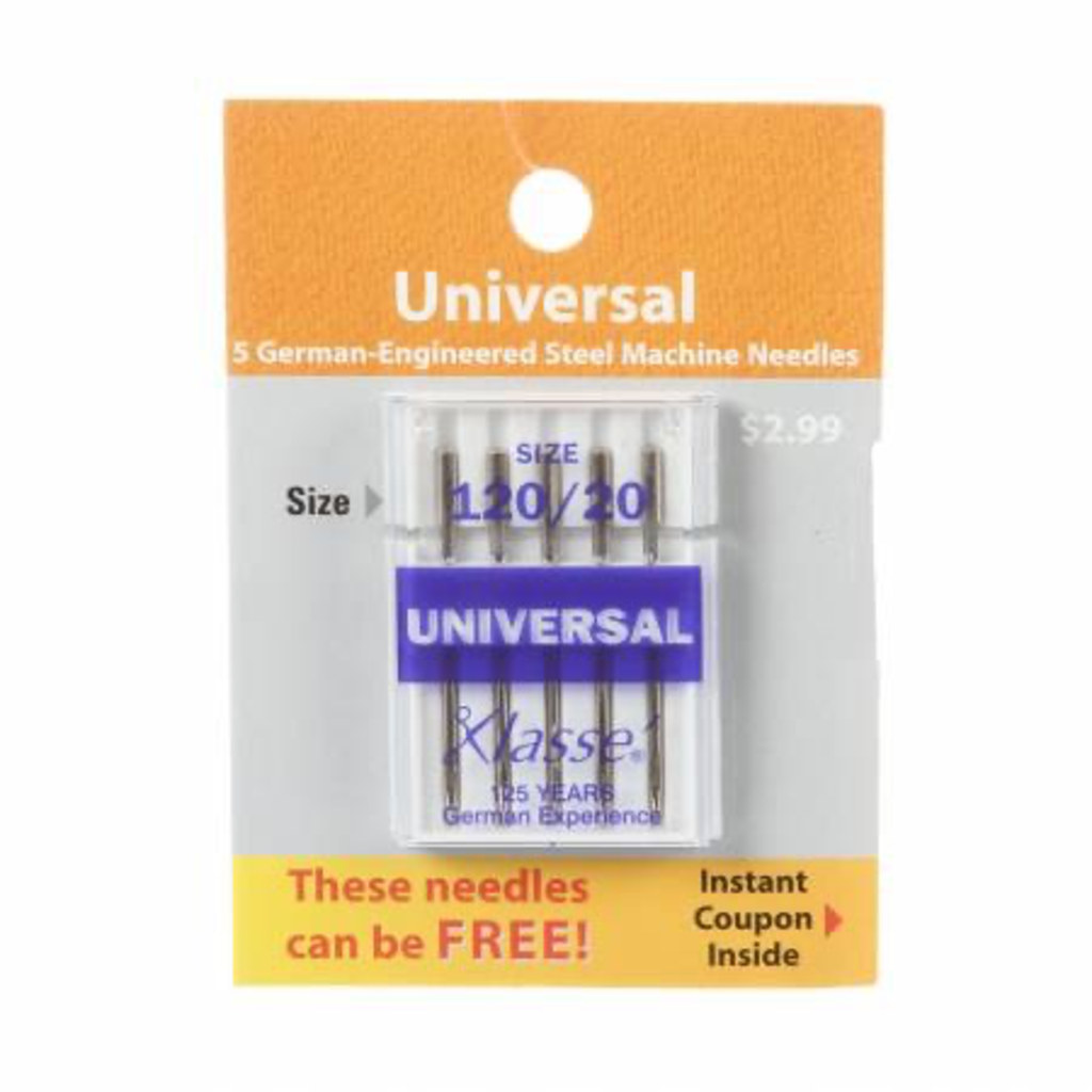 Klasse Universal Machine Needles 120/20 5pc