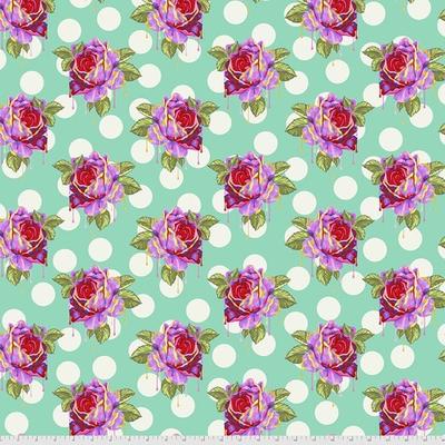 Tula Pink Pre-Order Tula Pink Curiouser & Curiouser Painted Roses- PWTP161.WONDER Wonder
