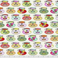 Free Spirit Pre-Order Tula Pink Curiouser & Curiouser Tea Time- PWTP163.SUGAR Sugar