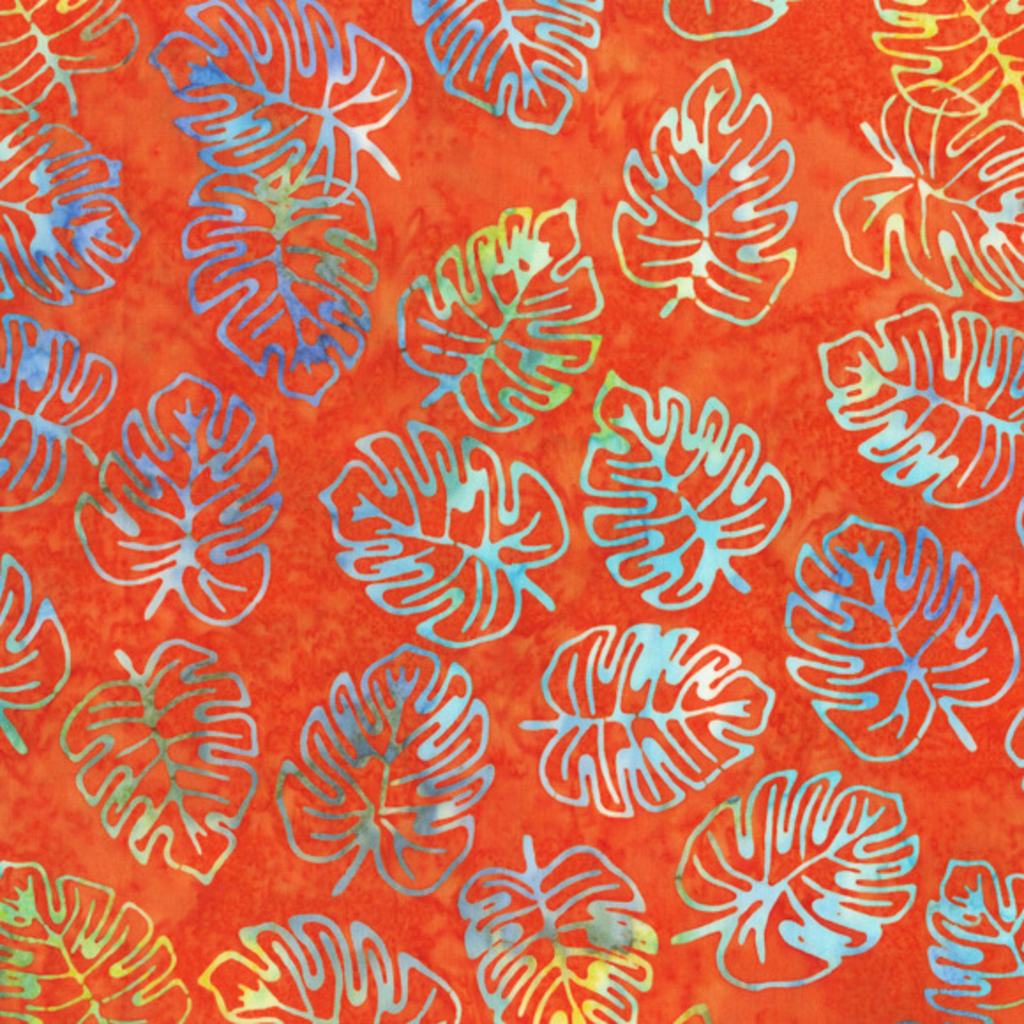 Mostera Leaves Tropic Vibe- 9034Q-8 Orange