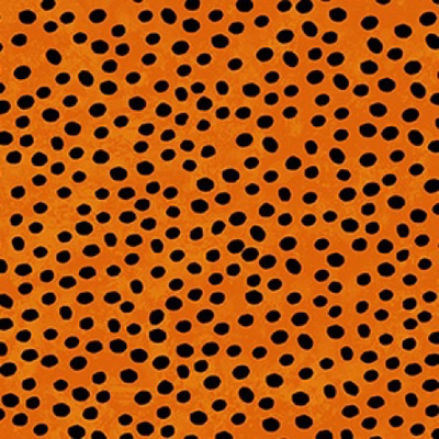 Clothworks Midnight Glow Dots- Y2969-36 Orange