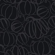 Clothworks Midnight Glow Pumkpin Drawings- Y2968-6 Gray