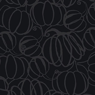Clothworks Midnight Glow Pumkpin Drawings- Y2968-6 Gray