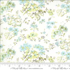 Moda Dover Field Floral Linen White- 18700 11 Natural