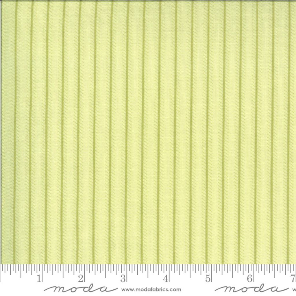 Moda Dover Ticking Stripe Willow- 18705 17 Light Green