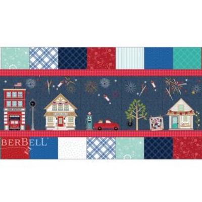 Kimberbell Main Street Celebration Bench Pillow Kit- Includes fabrics & embellishments