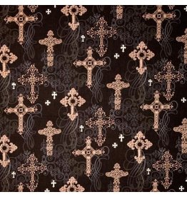 Ornate Crosses CM4527-Black