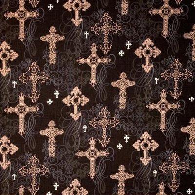Ornate Crosses CM4527-Black