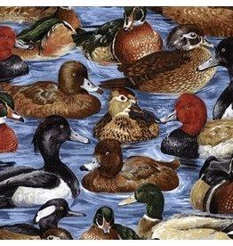 Ducks In Water C9682-Blue
