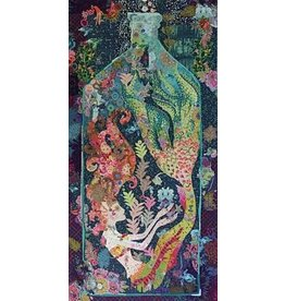 Sirene Mermaid in a Bottle Collage