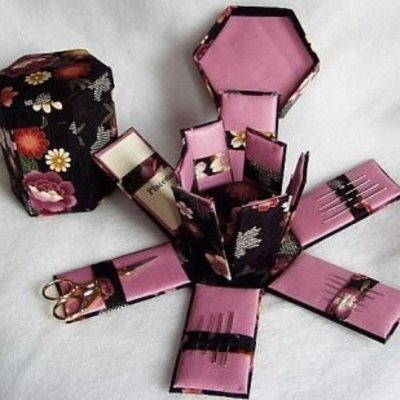 Six Sided Victorian Needle Box