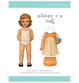 Tea Party Toddler Sundress,Bloomers Pattern