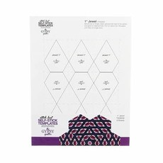 "Gypsy Quilter Stitch Fast Self-Stick Template 1"" Jewel"