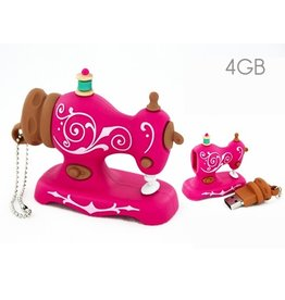 USB 4GB - Pink Sewing Machine