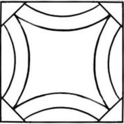 Printed Interfacing Double Wedding Ring