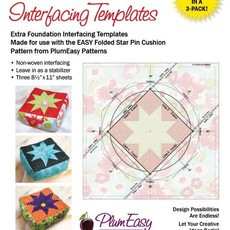 Folded Star Pin Cushion Interfacing Templeats-3 Pack