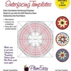 "8"" Folded Star Hot Pad Interfacing Templates 3-Pack"