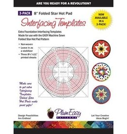 "8"" Folded Star Hot Pad Interfacing Templates 3-Pack"