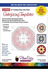 "8"" Hot Pad Interfacing Templates-12 Pack"