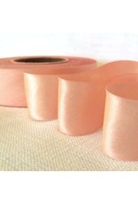 2 Inch Silk Satin Ribbon by the yard- Peach