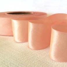 2 Inch Silk Satin Ribbon by the yard- Peach