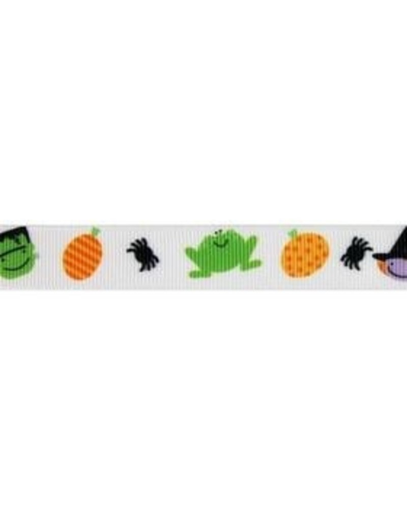 Designer Ribbon by the yard- Trick or Treat