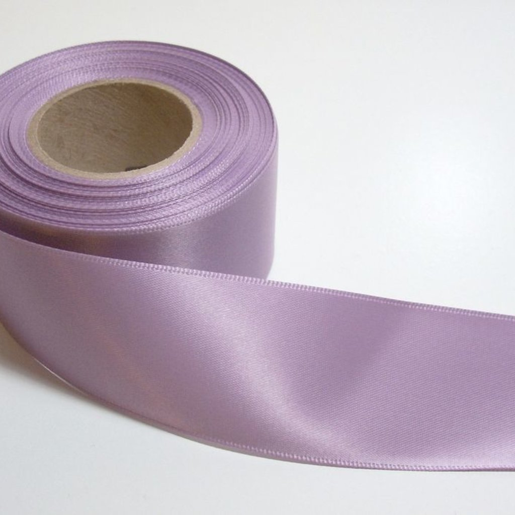 2 Inch Silk Satin Ribbon by the yard- Lavendar