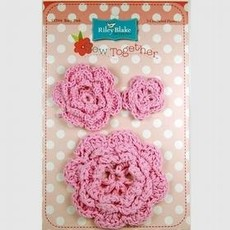 Crocheted Flowers-Baby Pink
