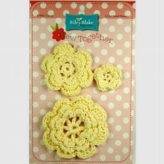 Crocheted Flowers-Yellow