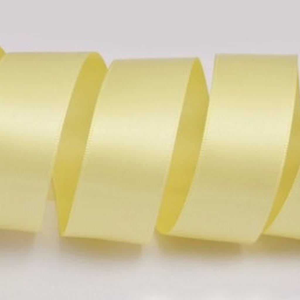 1 Inch Silk Satin Ribbon by the yard- Yellow