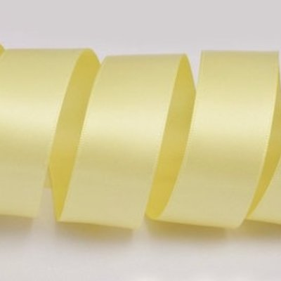 1 Inch Silk Satin Ribbon by the yard- Yellow