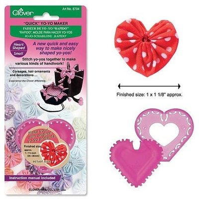 Clover Needlecraft Inc. Quick Yo Yo Maker Small Heart