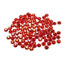 Hot Fix Crystals - Red (Light Siam) 4mm
