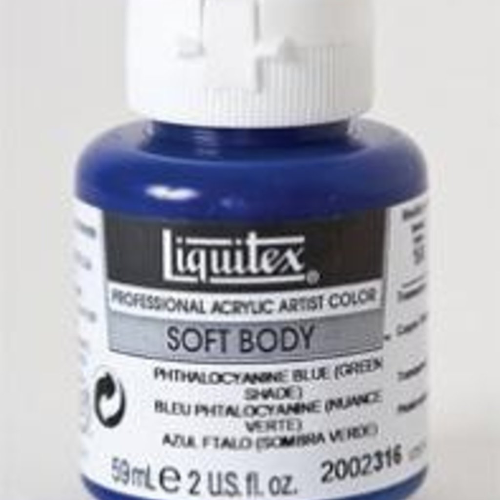 Liquitex® Phthalocyanine Blue (Green Shade) Soft Body Acrylic Paint 2oz. Bottle<br />Series 1A, Transparent