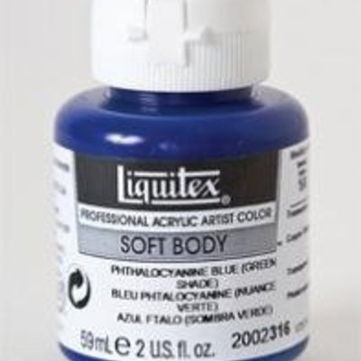 Liquitex® Phthalocyanine Blue (Green Shade) Soft Body Acrylic Paint 2oz. BottleSeries 1A, Transparent