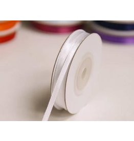 1/8 Inch Silk Satin Ribbon by the yard- White