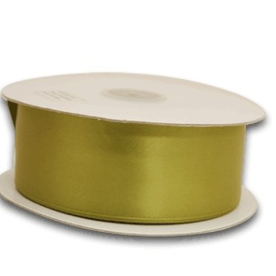 2 Inch Silk Satin Ribbon by the yard- Moss