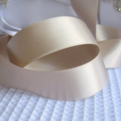 "Silk Satin Ribbon-1"" width-Ivory"