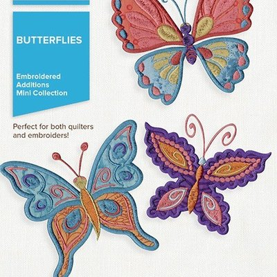 Embroidered Additions Butterflies Design Pack