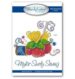 Mylar Swirly Sewing Design Pack