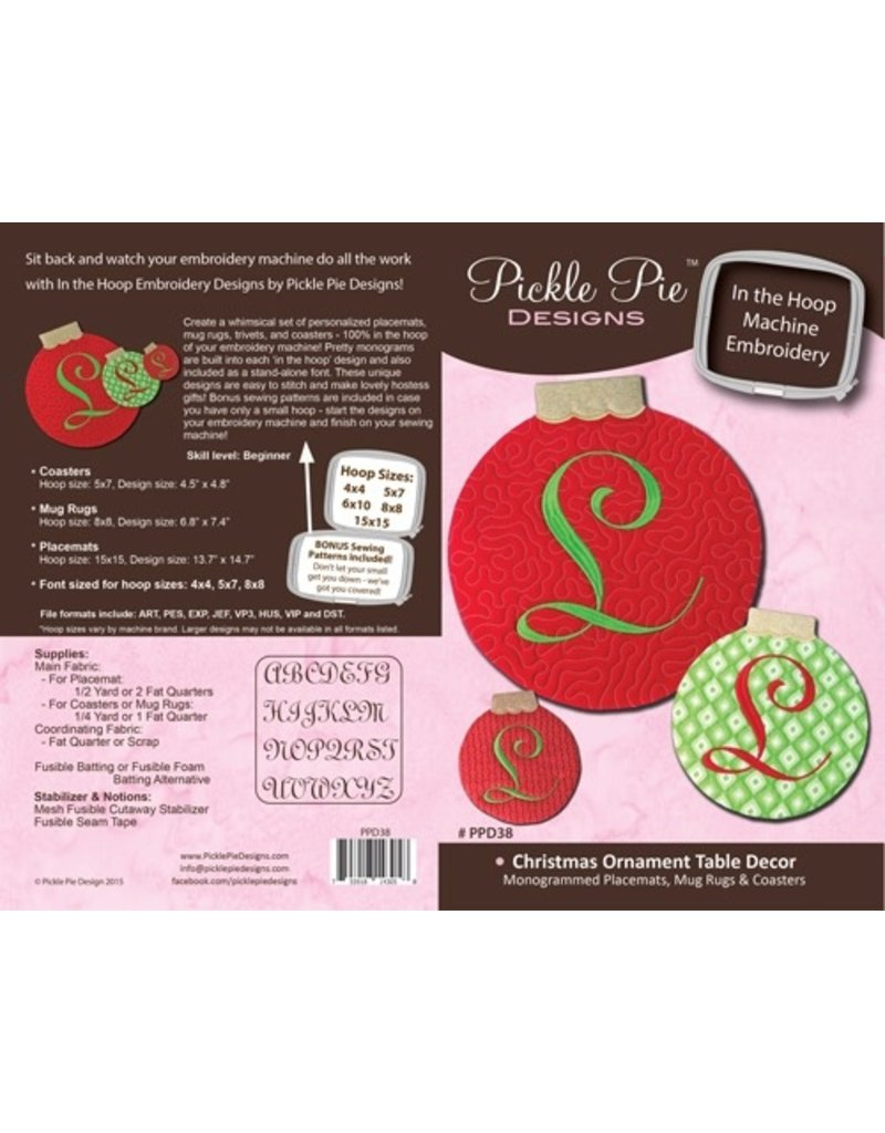 Christmas Ornament Placemats & More