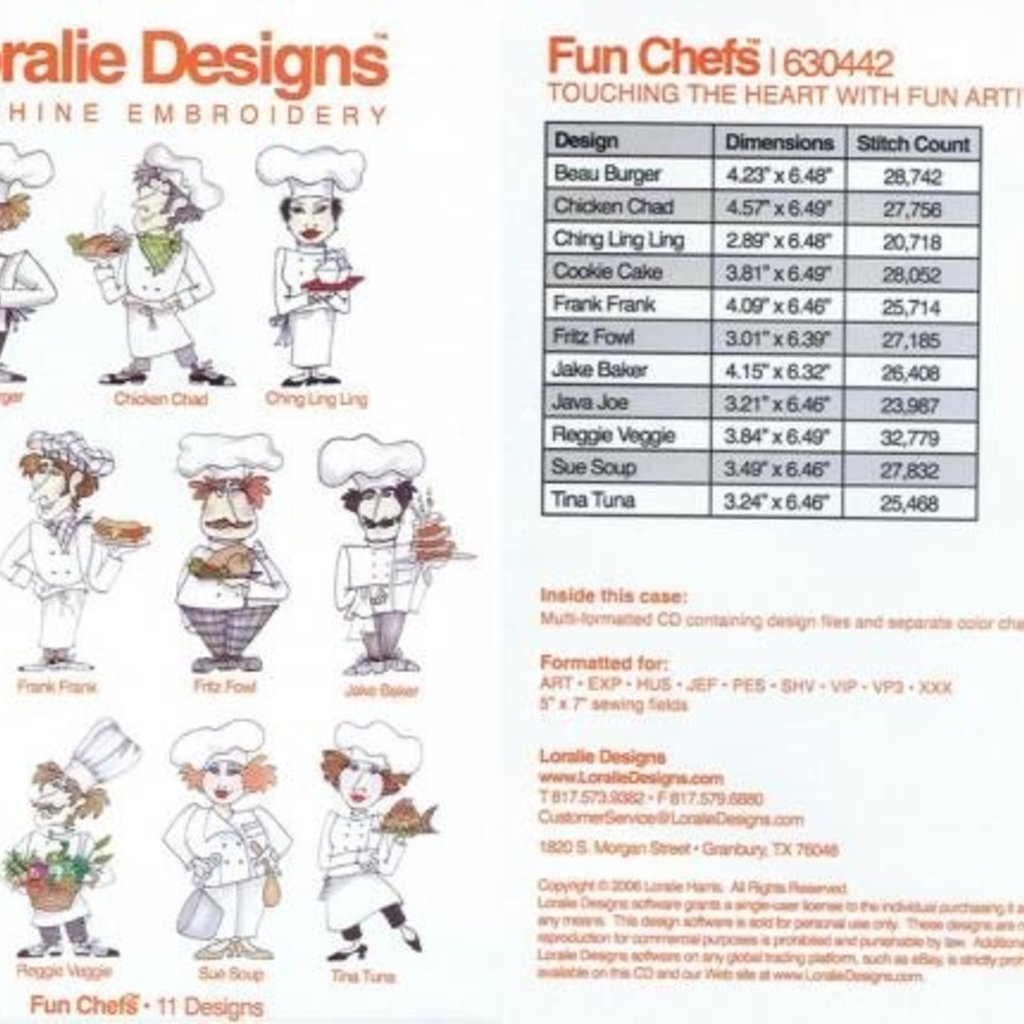 Fun Chefs Embroidery CD