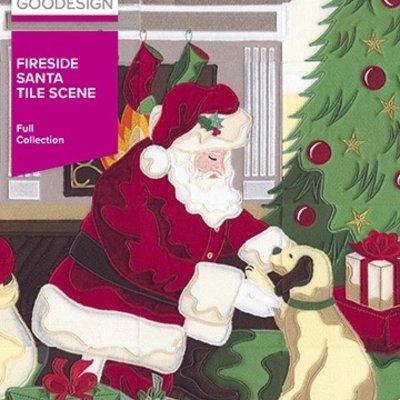 Fireside Santa Tile Scene Design Pack