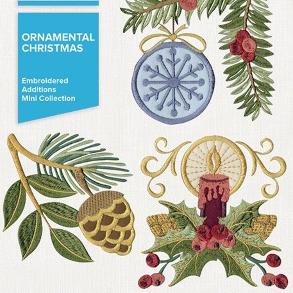 Embroidered Additions Ornamental Christmas Design Pack