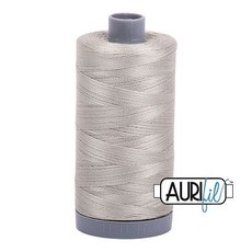 Aurifil 28 wt. Quilting Thread-5021 Light Gray