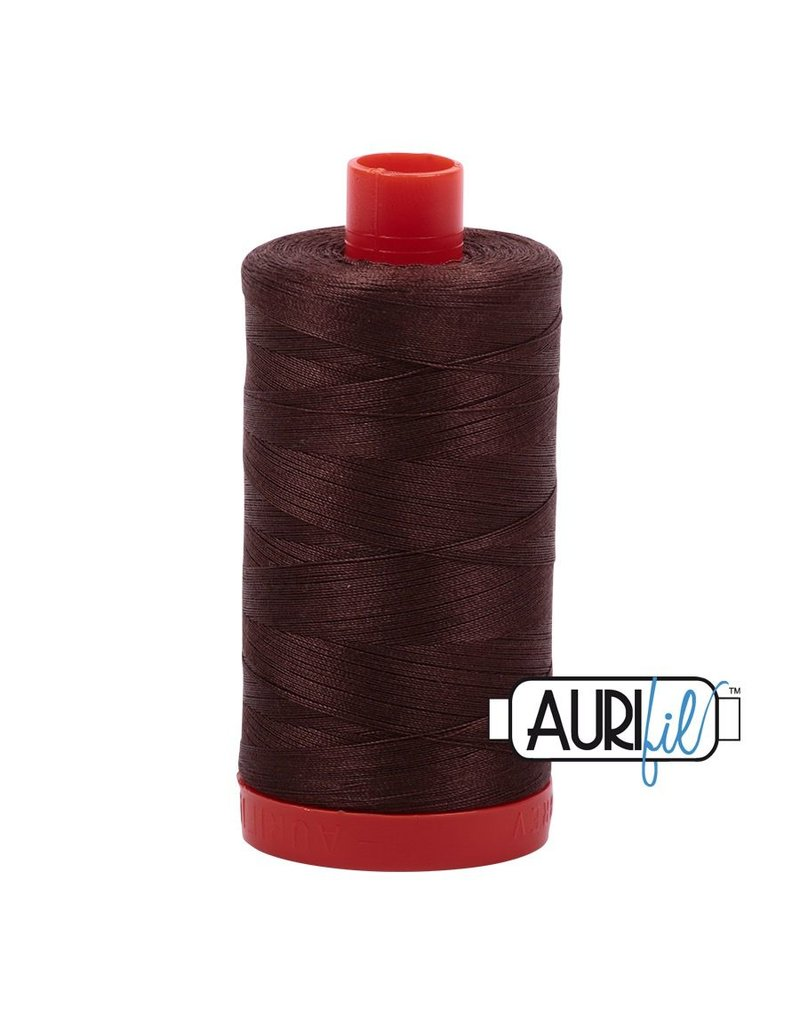 Aurifil 50 wt. Piecing Thread-1285 Medium Bark