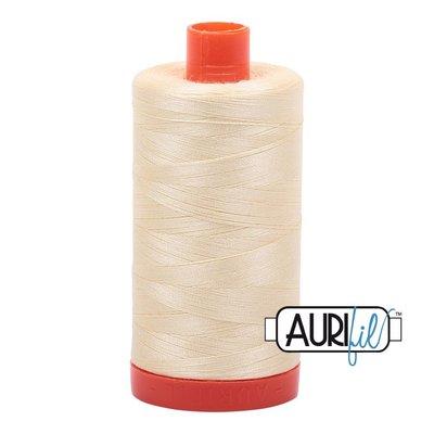 Aurifil 50 wt. Piecing Thread-2110 Light Lemon
