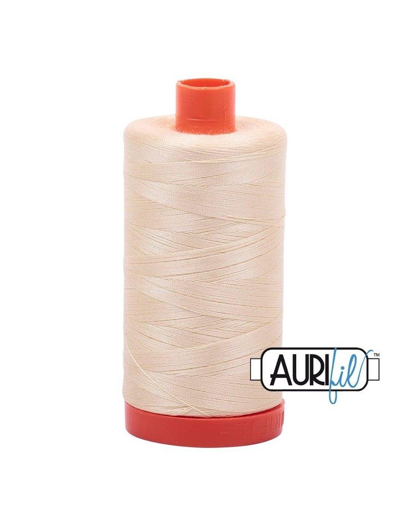 Aurifil 50 wt. Piecing Thread-2123 Butter