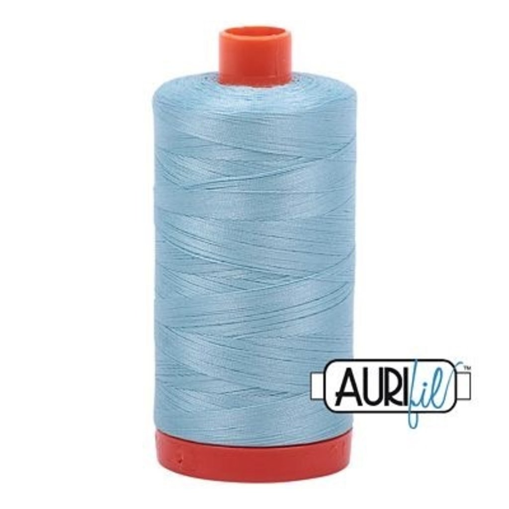 Aurifil 50 wt. Piecing Thread-2805 Light Gray Turquoise