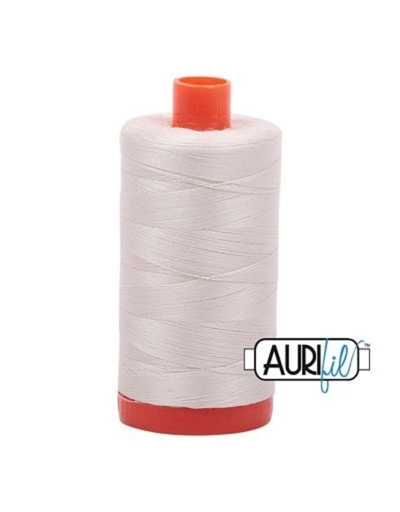 Aurifil 50 wt. Piecing Thread-2309 Silver White
